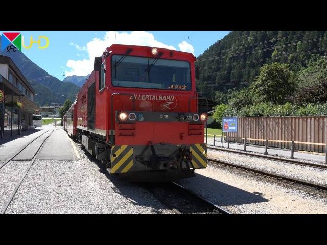 Führerstandsmitfahrt auf der Zillertalbahn von Mayrhofen nach Jenbach Cabride 4K UHD