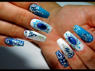 Супер дизайн со стразами 2017 ТОП Красивый дизайн ногтей. Новинки от мастера маникюра nail 2017