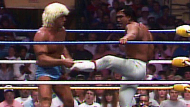 NWA WrestleWar Ric Flair vs Ricky Steamboat 07 05 1989