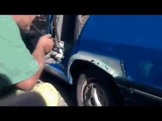 Бюджетная окраска авто