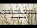 Guillaume APOLLINAIRE AUTOMNE