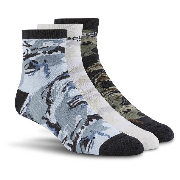 Носки Reebok Classics Graphic Ankle ― 3 пары в упаковке
