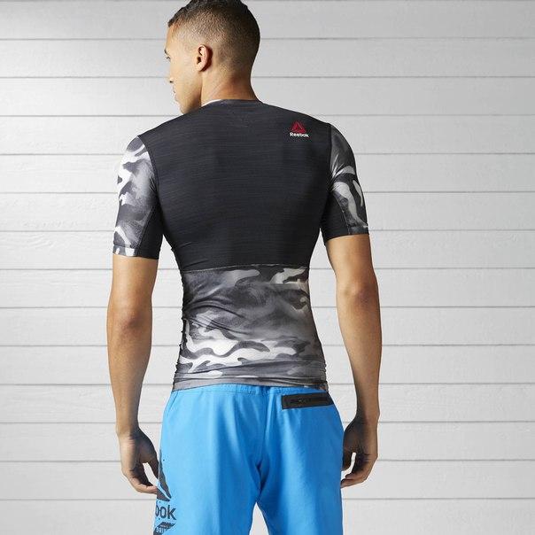 Компрессионная футболка ACTIVCHILL Spray Camo