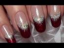 Classic Red Christmas Nails Xmas Nail Art Design tutorial for long nails