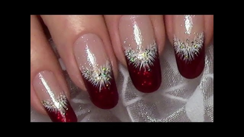 Classic Red Christmas Nails Xmas Nail Art Design (tutorial for long nails)