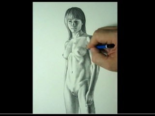 FREE lesson in how to draw nude female anatomy with instruction by C.Shellhammer