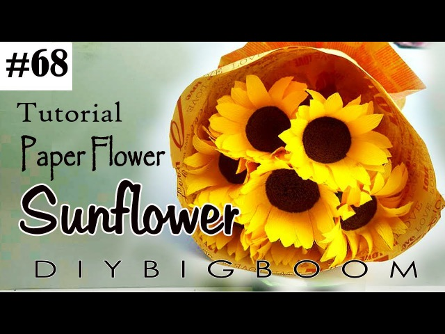 Paper flowers tutorial 68 - How to make Bouquet paper flowers easy step by step