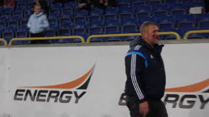Окровавленный Юрий Береза на дерби ФК Днепр - СК Днепр 1