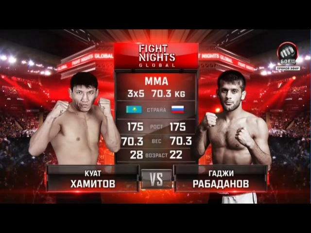 Куат Хамитов vs Гаджи Рабаданов