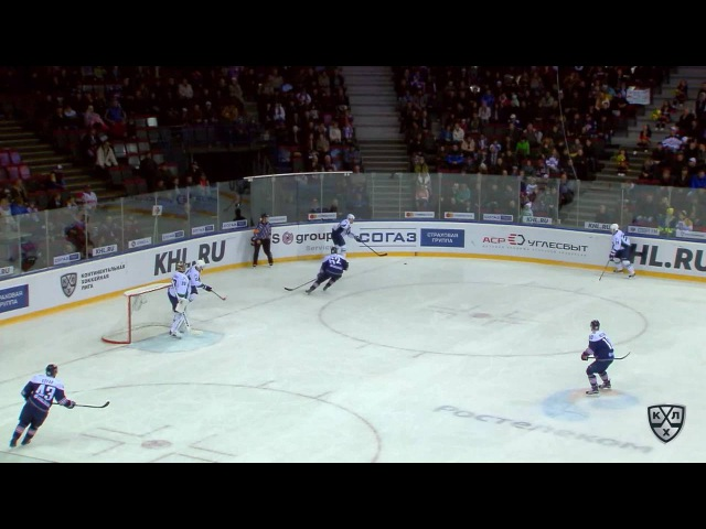 КХЛ (Континентальная хоккейная лига) - Моменты из матчей КХЛ сезона 16/17 - Удаление. Осала Оскар (М