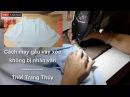 Cách may gấu váy xòe không bị nhăn văn tại Thời Trang Thủy - Sewing line of circle skirt
