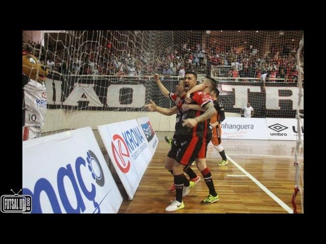 Gols Joinville 6 (2)x(1) 0 Foz Cataratas - Semifinal Jogo 2 Liga Nacional de Futsal 2017