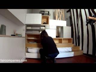 Как организовать пространство маленькой квартиры? Уютная гостинка 12 кв.м. в Пари...