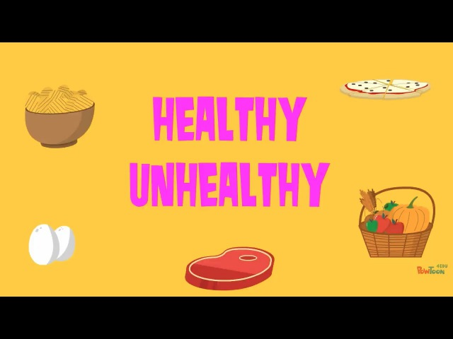 Healthy Unhealthy Food Quiz