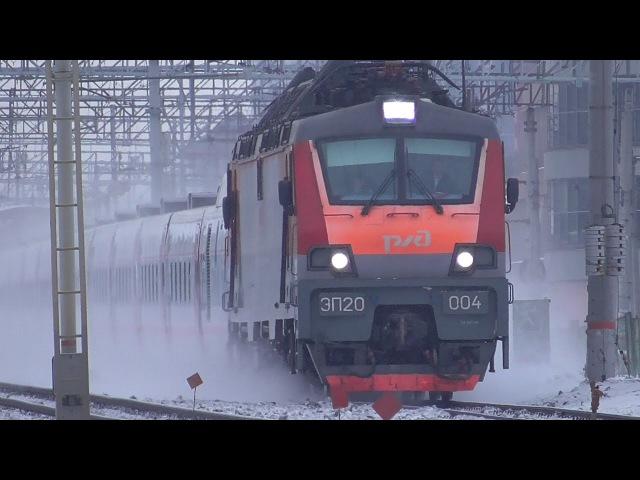 ЭП20 004 с поездом Стриж Нижний Новогород Москва