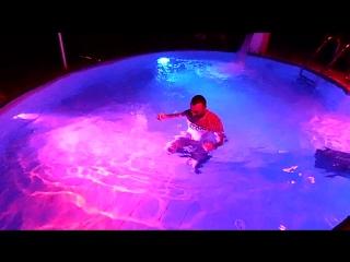 Me & Vika photo Nikolay jumps straight to pool in Club