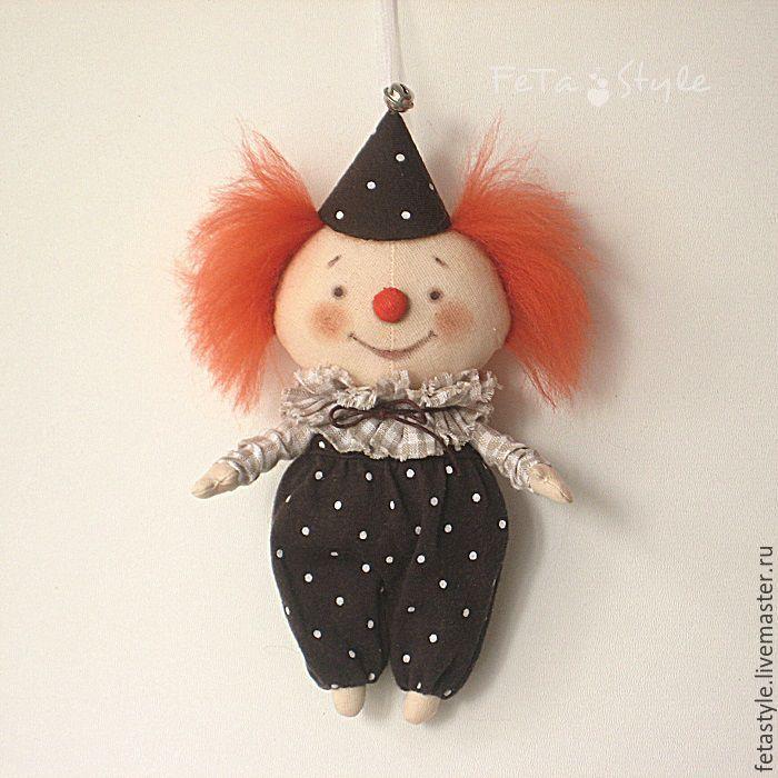 кукла ручной работы клоун