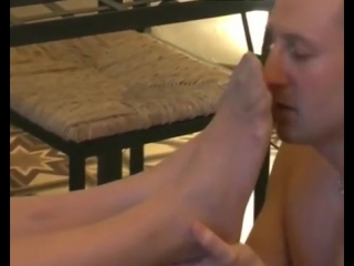 Foot worship slave licking feet|foot fetish|femdom|smelly feet