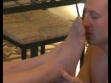 Foot worship slave licking feet foot fetish femdom smelly feet