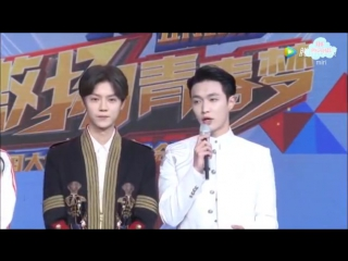 170504 Luhan & Lay @ CCTV Flowers in May Gala - Interview Cut