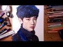 EXO Chanyeol 엑소 찬열 - speed drawing | drawholic
