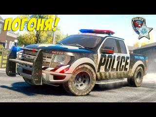 УБЕГАЕМ ОТ ПОЛИЦИИ Игровой мультик про полицейские машинки и преступника для детей Гонки на тачках