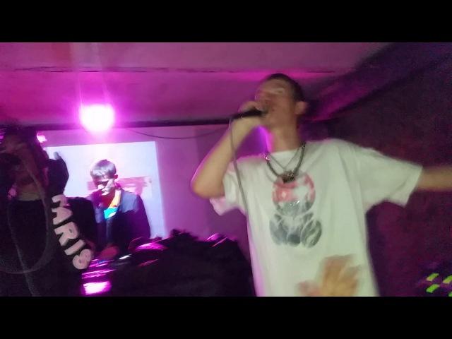Bladee - Into dust (Prague live 9.12.2016 w/ ecco2k