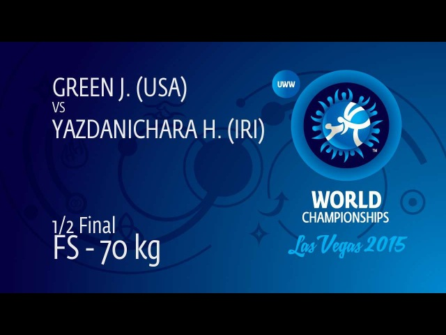 12 FS - 70 kg H. YAZDANICHARA (IRI) df. J. GREEN (USA), 9-4