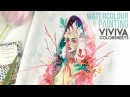 Gaia Watercolour Painting with Viviva Colorsheets Let's talk about Fate