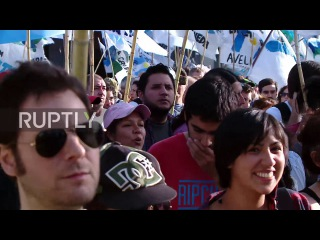 Аргентина: «Макри сделал это, всё, что он сделал, он сделал против народа» - 24-часовой марш продолжается.