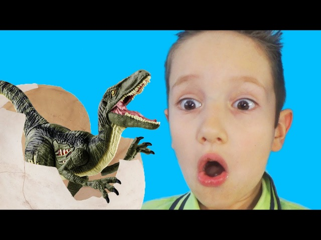 Вредные детки нашли ЯЙЦО ДИНОЗАВРА Bad Baby vs dinosaur IRL видео для детей