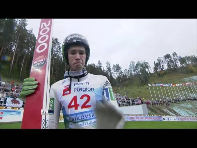 Прыжки на лыжах с трамплина Гран-при Чайковский 05.09.2015 г. муж. к95