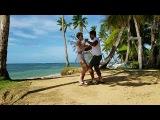 Juan Pablo &amp severine  Bailando  Бачата доминикана en la playa.