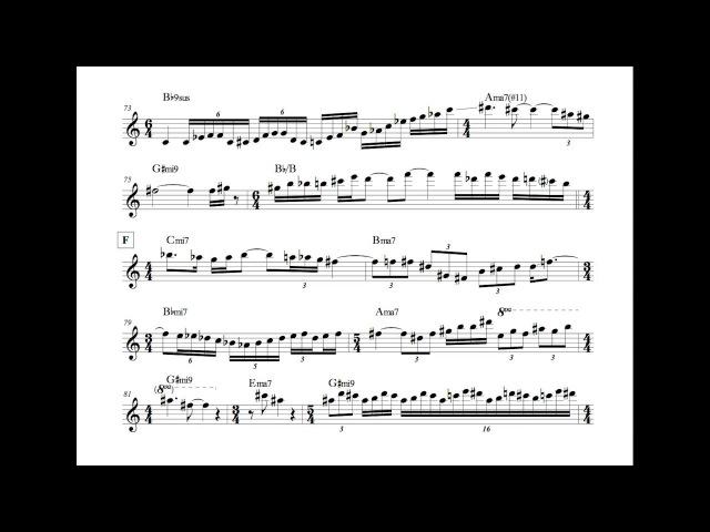 Allan Holdsworth - Downside Up Solo (Transcription)