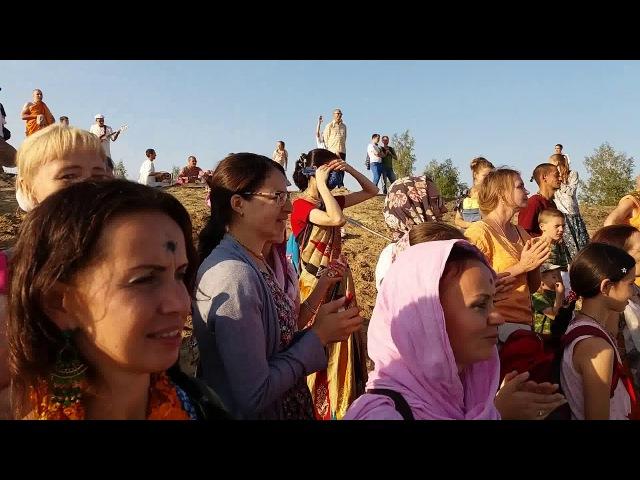 3-й день фестиваля Радхаштами на эко-ферме Планета коров 30.08.2017