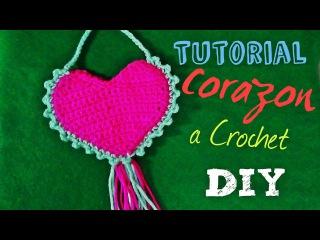 Corazon a Crochet - Adormno para San Valentin Bolsa o Colgante