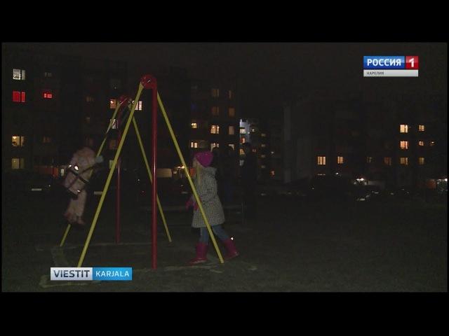 Auringon kaupunki Petroskoissa vaipunut pimeyteen