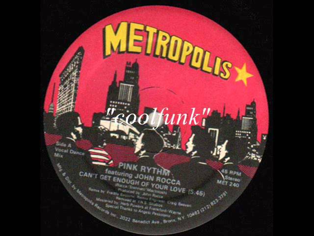Pink Rhythm - Can't Get Enough Of Your Love (12 Electro Disco-Boogie 1985)