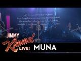 MUNA - I Know a Place (Jimmy Kimmel Live)