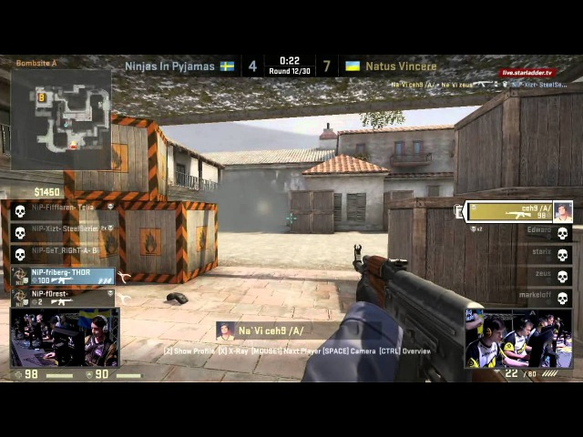 CS SLTV S6 Lan Finals NiP vs Na`Vi Game 1