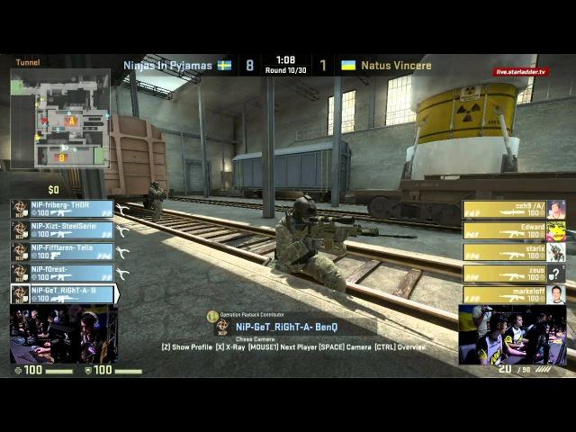 CS SLTV S6 Lan Finals NiP vs Na`Vi Game 2