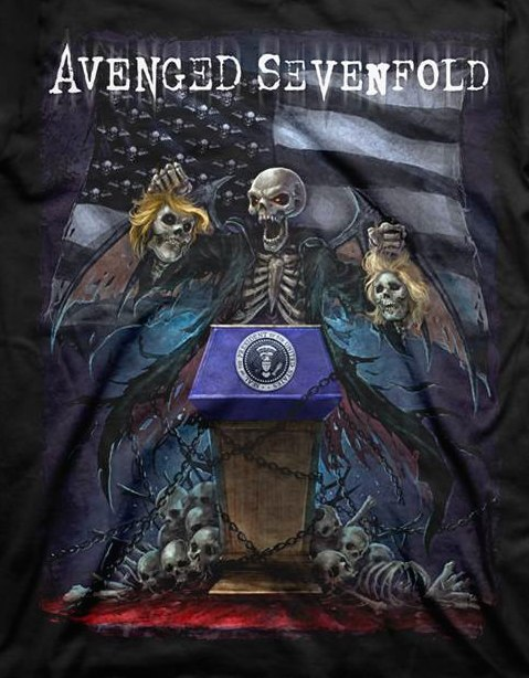 AVENGED SEVENFOLD выпустили футболки на тему президентских выборов