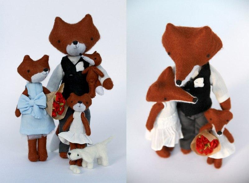 семья лисов