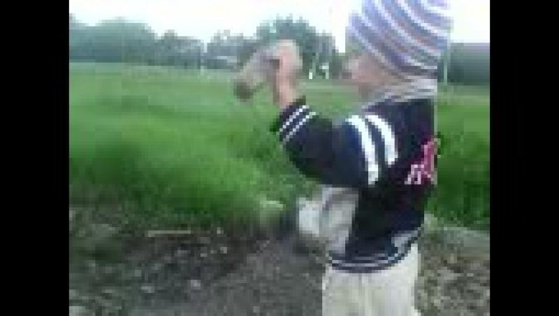 C сыном на прогулке