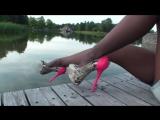 TAMIA HIGH HEELS Pantyhose Legs Nice Ass Foot Fetish Сексуальные ножки в колготках на высоких каблуках Мини юбка Попка Фут Фетиш