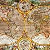 карты мира состаренные авторские в багете размер
