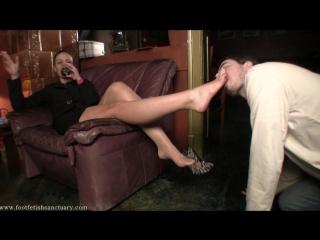 Mistress Larissa - Zebra Shoes And Bare Feet