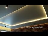 Натяжные двухуровневые потолки 90 градусов