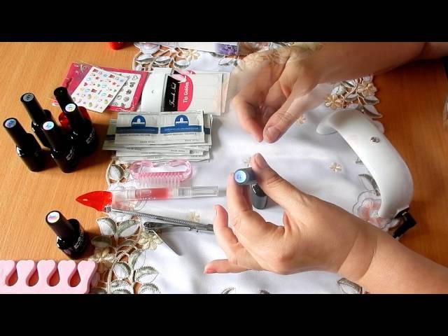 Гель лак шеллак в домашних условиях Shellac nails at home