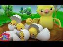 Five Little Birds | Nursery Rhymes Kids Songs - ABCkidTV